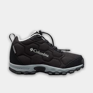 A black little kids shoe.