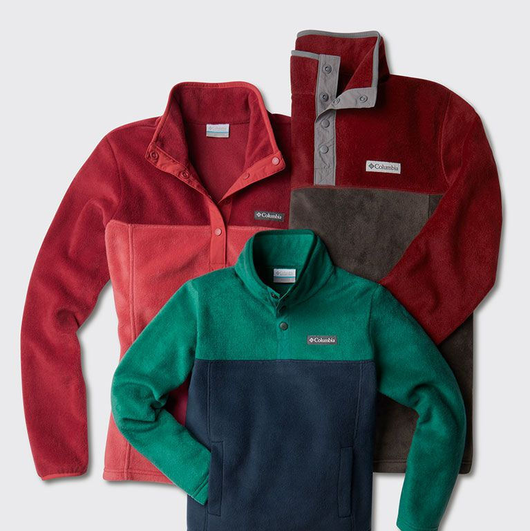 a trio of fleeces