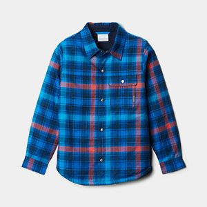 A blue and red plaid shirt.