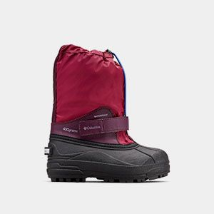 A kids snow boot.