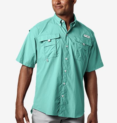 A man in a short sleeve PFG shirt.