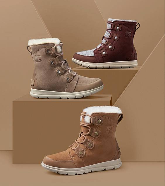 Three pairs of Explorer Joan boots.