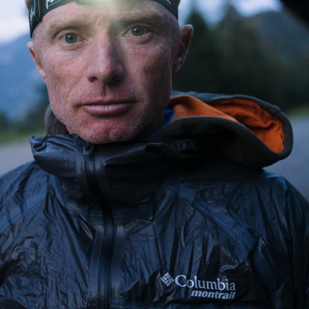 Sébastien Camus with a Columbia Montrail jacket