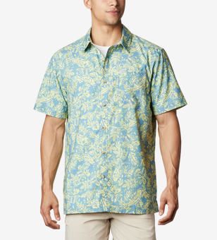 Shirt with a floral print.