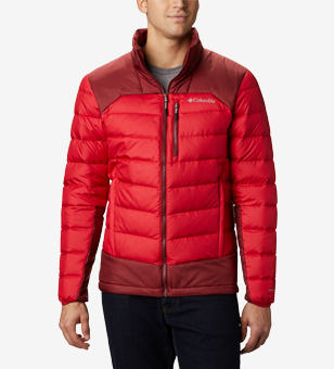 Close-up of an insulated jacket for men.
