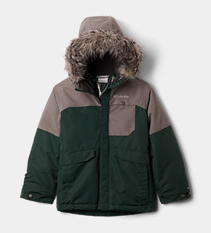 A green and grey Boys' Nordic Strider Jacket