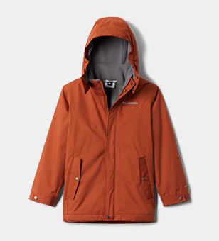 An orange hooded jacket.