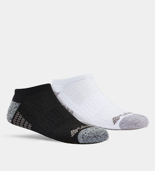 A black and a white kids socks.