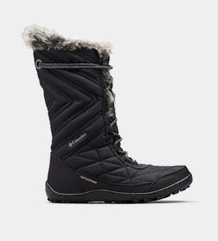 Tall black womens boot.