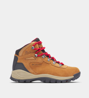 Tan womens hiking boot.
