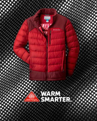 A red puffy jacket.