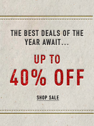 UP TO 40% OFF, Shop Sale