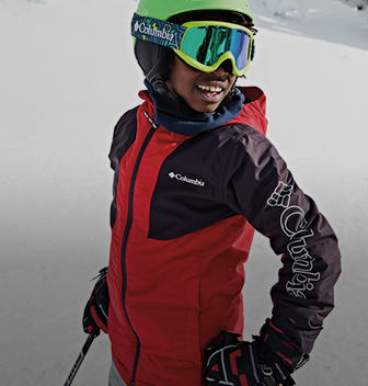 Kid with a ski jacket