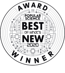 Popular Science Best of what is new 2020 award winner.