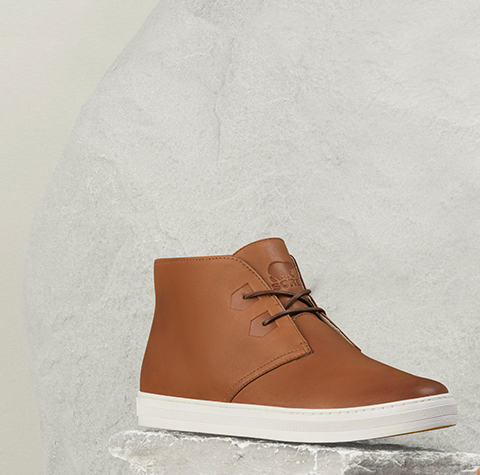 A men's new arrival boot on white background