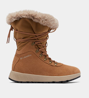 Tall tan womens boot.