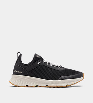 Black mens boating sneaker.