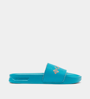 Blue womens slide sandal.