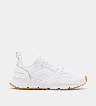 White womens boating sneaker.
