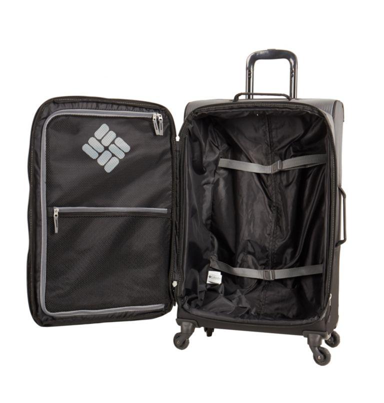"Kiger 26"" 4 Wheel Spinner   010   O/S Kiger Upright 26 Inch 4-Wheel Spinner Suitcase, Black, Grey, a1"