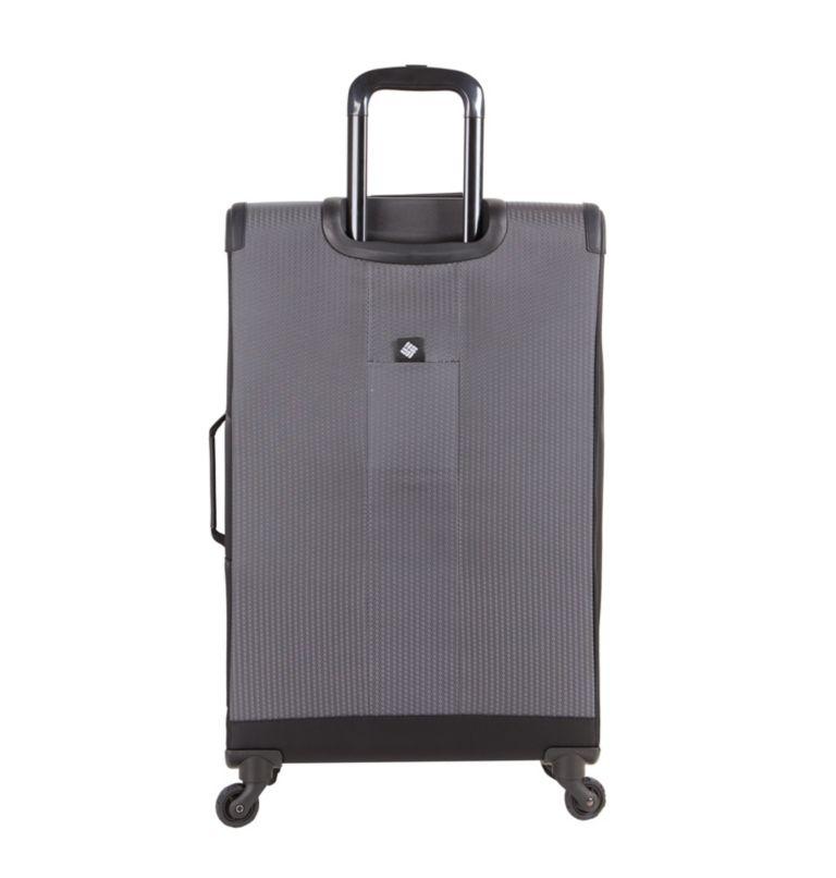 """Kiger 26"""" 4 Wheel Spinner   010   O/S Kiger Upright 26 Inch 4-Wheel Spinner Suitcase, Black, Grey, back"""