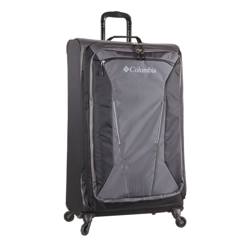 "Kiger 31"" 4 Wheel Spinner | 010 | O/S Kiger Upright 31 Inch 4-Wheel Spinner Suitcase, Black, Grey, front"