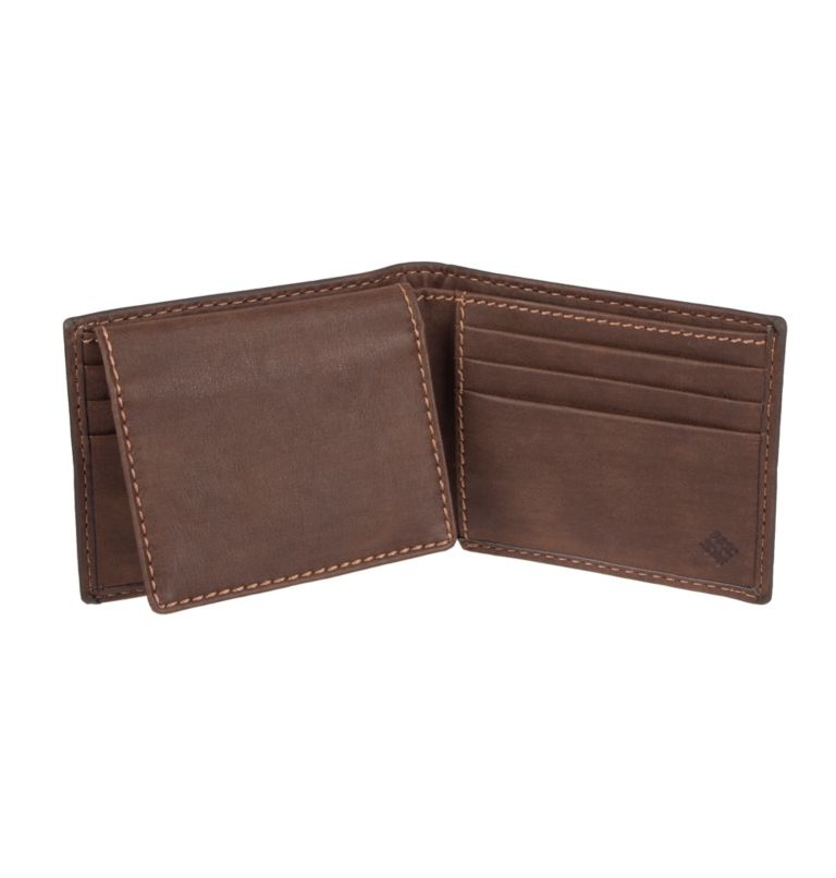 Men's Teton RFID Passcase Wallet | 200 | O/S Men's Teton RFID Passcase Wallet, Brown, back