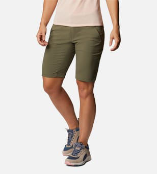 Woman in Columbia shorts