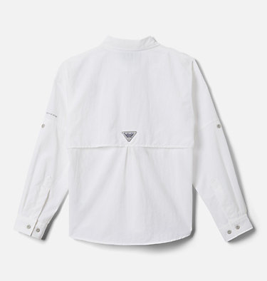 Boys' PFG Bahama™ Long Sleeve Shirt Bahama™ Long Sleeve Shirt | 479 | XL, White, back