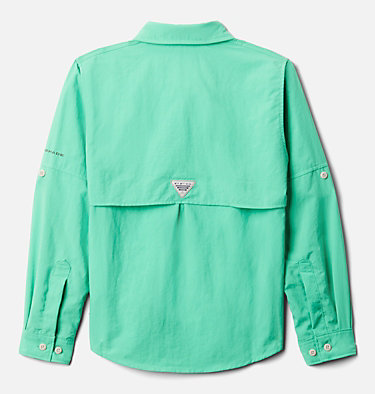 Boys' PFG Bahama™ Long Sleeve Shirt Bahama™ Long Sleeve Shirt | 479 | XL, Winter Green, back