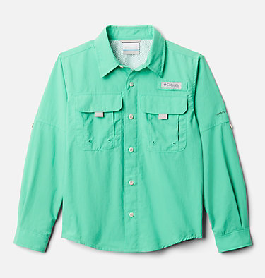 Boys' PFG Bahama™ Long Sleeve Shirt Bahama™ Long Sleeve Shirt | 479 | XL, Winter Green, front