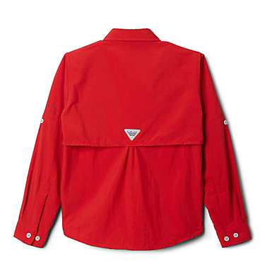 Boys' PFG Bahama™ Long Sleeve Shirt Bahama™ Long Sleeve Shirt | 479 | XL, Red Spark, back