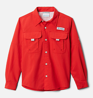 Boys' PFG Bahama™ Long Sleeve Shirt Bahama™ Long Sleeve Shirt | 479 | XL, Red Spark, front