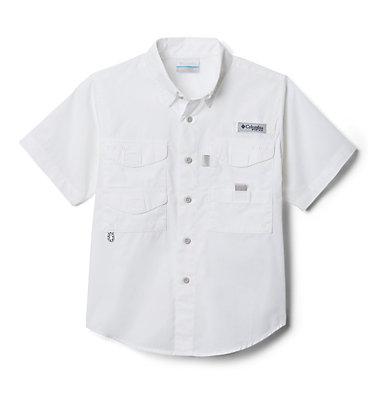 Boys' PFG Bonehead™ Short Sleeve Shirt Bonehead™ Short Sleeve Shirt   019   M, White, front