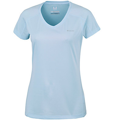 Zero Rules™ Kurzarm-Shirt für Damen Zero Rules™ Short Sleeve Shirt | 487 | XS, Pale Blue Heather, front