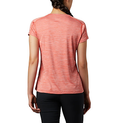 T-shirt Zero Rules™ Femme Zero Rules™ Short Sleeve Shirt | 487 | XS, Bright Poppy Heather, back