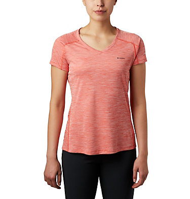 T-shirt Zero Rules™ Femme Zero Rules™ Short Sleeve Shirt | 487 | XS, Bright Poppy Heather, front