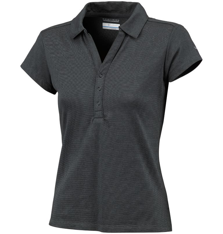 Shadow Time™ Polo | 011 | L Polo Shadow Time™ da donna, Black, Grill, front