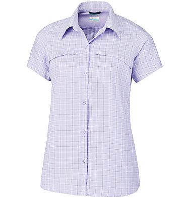 Women's Silver Ridge™ Multi Plaid Short Sleeve Shirt Silver Ridge™ Multi Plaid S/S  | 842 | L, Soft Violet Rip Stop Plaid, front