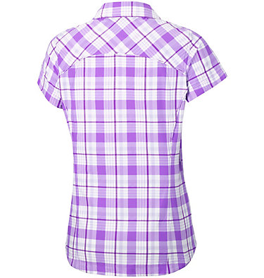 Women's Silver Ridge™ Multi Plaid Short Sleeve Shirt Silver Ridge™ Multi Plaid S/S  | 842 | L, Crown Jewel Plaid, back