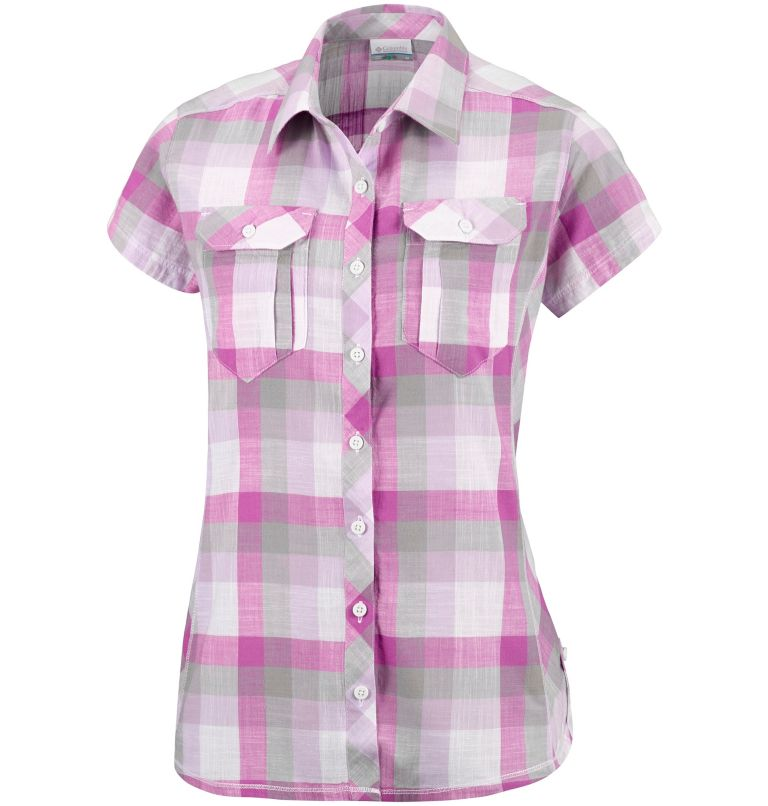 Camp Henry™ Short Sleeve Shirt | 549 | XS Chemise à manches courtes Camp Henry™ Femme, Bright Lavender Block Stripe, front