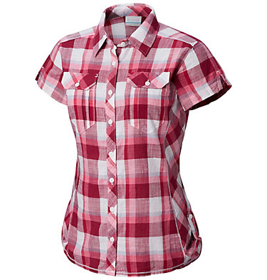 Chemise à manches courtes Camp Henry™ Femme Camp Henry™ Short Sleeve Shirt | 549 | M, Wine Berry Block Plaid, front