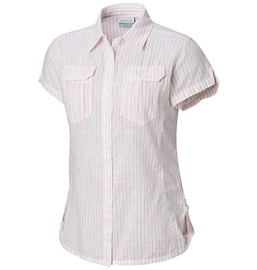 Chemise à manches courtes Camp Henry™ Femme Camp Henry™ Short Sleeve Shirt | 549 | M, Red Coral Stripe, front