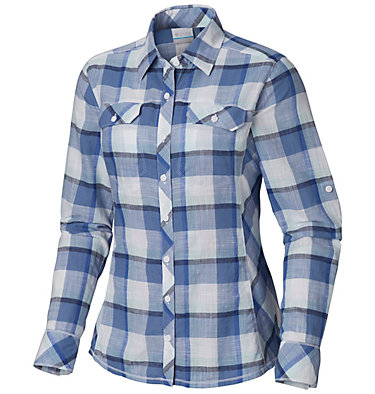 Camp Henry™ Langarm-Hemd für Damen Camp Henry™ Long Sleeve Shirt | 634 | S, Blue Dusk Block Plaid, front
