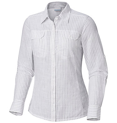 Camp Henry™ Langarm-Hemd für Damen Camp Henry™ Long Sleeve Shirt | 634 | S, Nocturnal Stripe, front