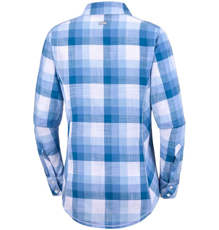 Camp Henry™ Long Sleeve Shirt | 485 | L Chemise à manches longues Camp Henry™ Femme, Harbor Blue Block Stripe, back