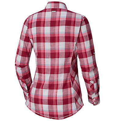 Camp Henry™ Langarm-Hemd für Damen Camp Henry™ Long Sleeve Shirt | 634 | S, Wine Berry Block Plaid, back