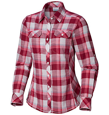 Camp Henry™ Langarm-Hemd für Damen Camp Henry™ Long Sleeve Shirt | 634 | S, Wine Berry Block Plaid, front