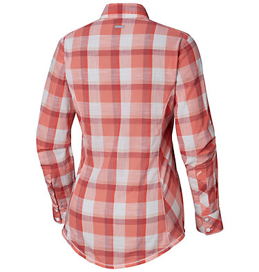 Camp Henry™ Langarm-Hemd für Damen Camp Henry™ Long Sleeve Shirt | 634 | S, Red Coral Block Plaid, back