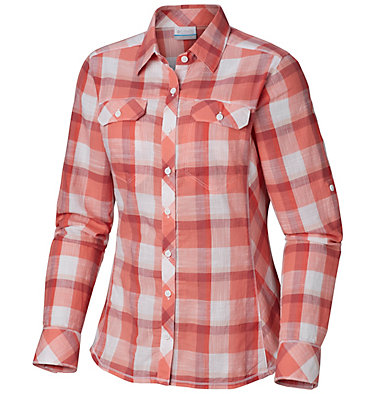 Camp Henry™ Langarm-Hemd für Damen Camp Henry™ Long Sleeve Shirt | 634 | S, Red Coral Block Plaid, front